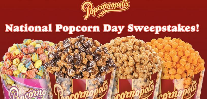 Popcornopolis National Popcorn Day Sweepstakes
