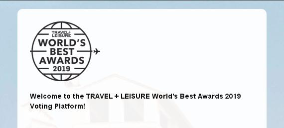 Travel+Leisure Worlds Best Awards Giveaway