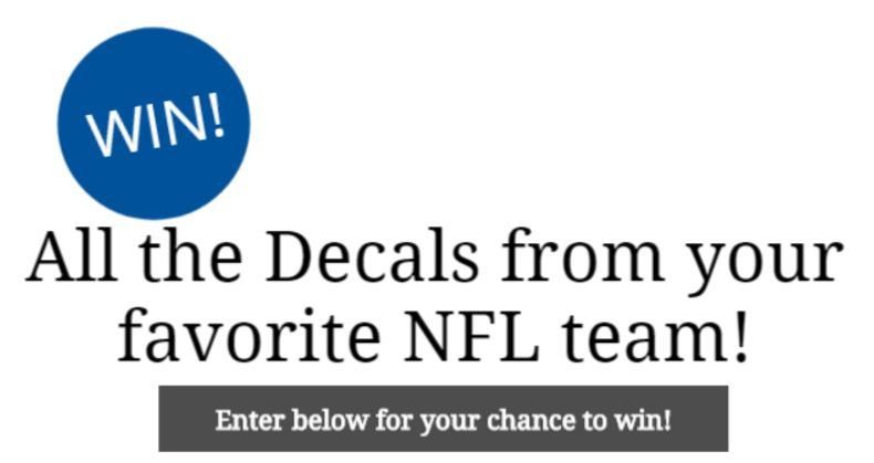Fathead LLC NFL Team Decal Sweepstakes