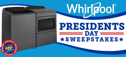 Whirlpool Presidents Day Sweepstakes