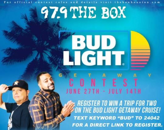The Bud Light Getaway Contest - Register For Chance To Win A