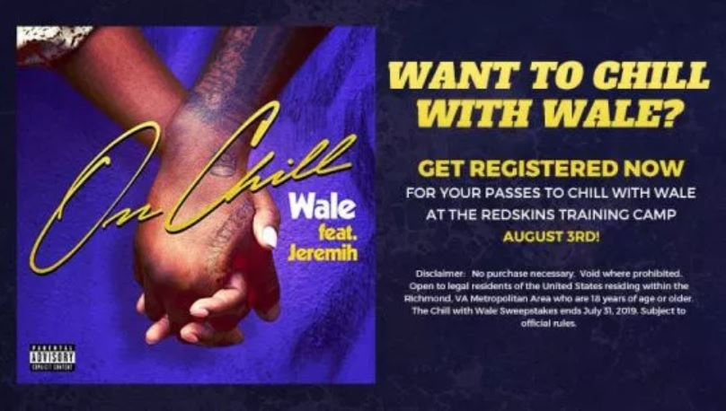 Chill With Wale Sweepstakes - Enter To Win A Pair Of Passes