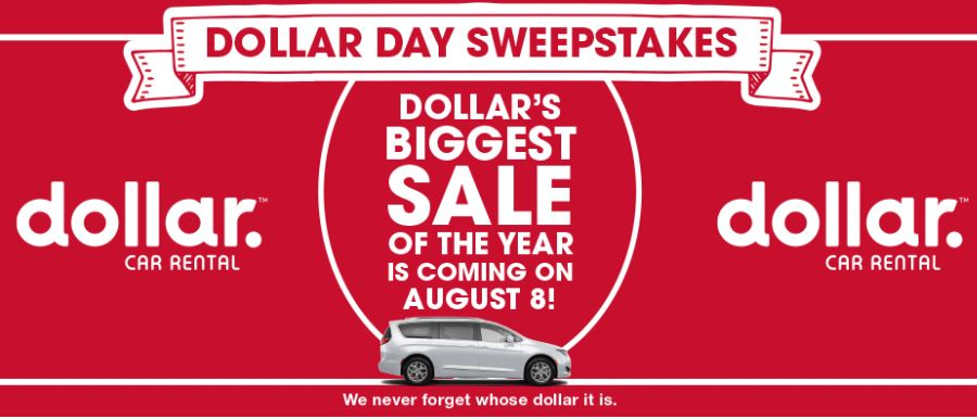 National Dollar Day Sweepstakes - Enter To Win Car Rental